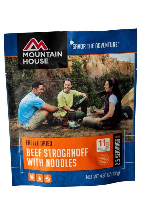 Freeze Dried Food for Camping: Mountain House Beef Stroganoff with Noodles