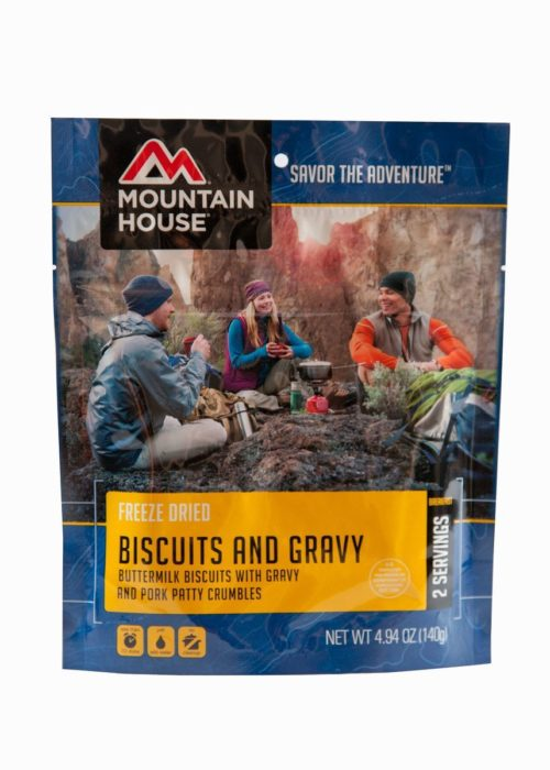 Freeze Dried Food for Camping: Mountain House Biscuits and Gravy