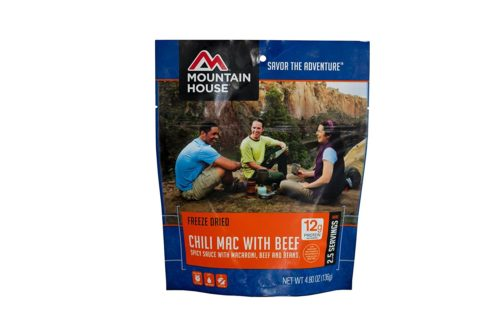 Freeze Dried Food for Camping: Mountain House Chili Mac with Beef