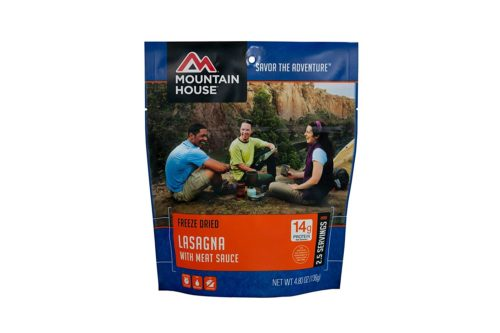 Freeze Dried Food for Hiking: Mountain House Lasagna with Meat Sauce
