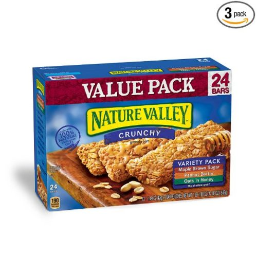 Nutrition Bars for Camping: Nature Valley Bars