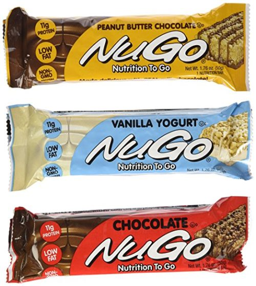 Nutrition Bars for Camping: NuGo Nutrition Bars
